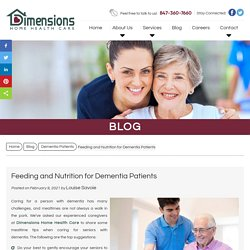 Feeding and Nutrition for Dementia Patients