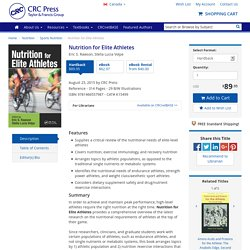 Nutrition for Elite Athletes - CRC Press Book