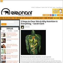 5 Steps to Clear Skin & Why Nutrition is Everything. ~ Sarah Clark