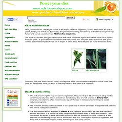 Okra nutrition facts and health benefits