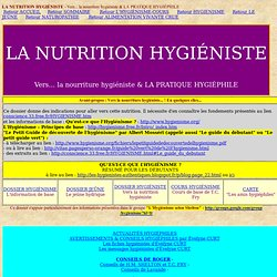 nutrition hygiéniste