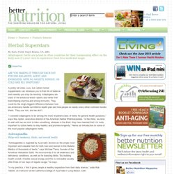 Better Nutrition Magazine :: Supplements, Nutrition, Recipes, Personal Care :: Features :: Feature Articles