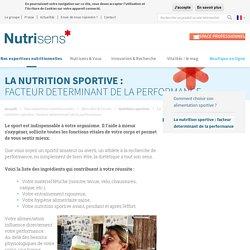 Conseil nutrition sportive - Facteur de la performance