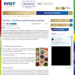 Nutrition et performance sportive - INSEP