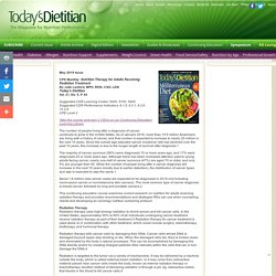 CPE Monthly: Nutrition Therapy for Adults Receiving Radiation Treatment - Today's Dietitian Magazine