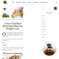 Dense 5 Days Nutrient Diet Plan to Lose Weight