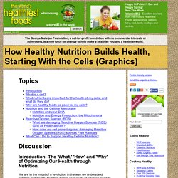 How Healthy Nutrition Builds Health, Starting With the Cells (Graphics)