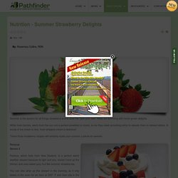 Nutrition - Summer Strawberry Delights