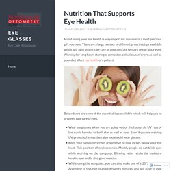 Nutrition That Supports Eye Health
