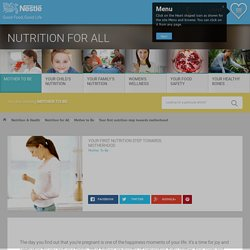 Your first nutrition step towards motherhood