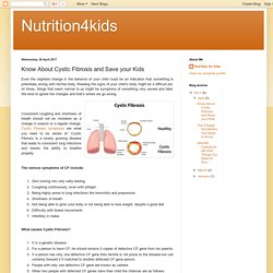 Know About Cystic Fibrosis and Save your Kids – Nutrition4kids
