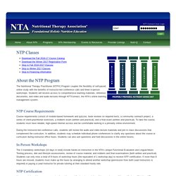NTA – Nutritional Therapy Association