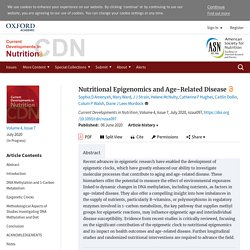 Nutritional Epigenomics and Age-Related Disease