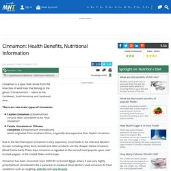 Cinnamon: Health Benefits, Research, Risks