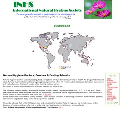 Water-Only Fasting Retreats, Nutritional Doctors & Coaches - INHS International Natural Hygiene Society