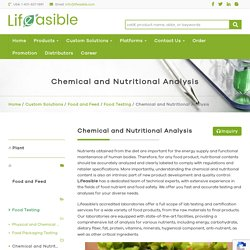 Chemical and Nutritional Analysis - Lifeasible