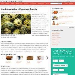 Nutrition Content In Spaghetti Squash