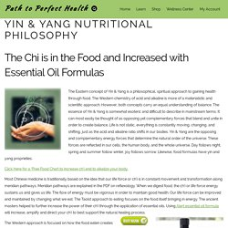 Yin & Yang Nutritional Philosophy - Path to Perfect Health