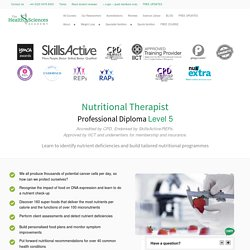 Nutritional Therapist Professional Diploma Level 5