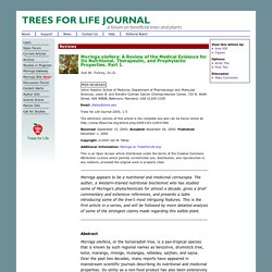 Trees for Life Journal - Moringa oleifera: A Review of the Medical Evidence for Its Nutritional, Therapeutic, and Prophylactic Properties. Part 1.