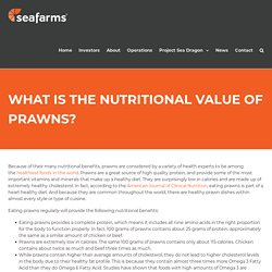 WHAT IS THE NUTRITIONAL VALUE OF PRAWNS?