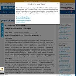 Alzheimer's Disease Nutritional Strategies