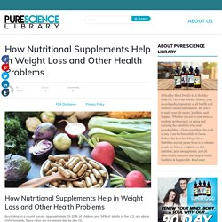 How Nutritional Supplement Help in Weight Loss
