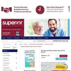 Novasource Renal Vanilla Tetra 237ml, Box 24 - NUTRITIONAL SUPPLEMENTS, NESTLE (OTHER) - Product Detail - Superior Health Care Australia Pty Ltd