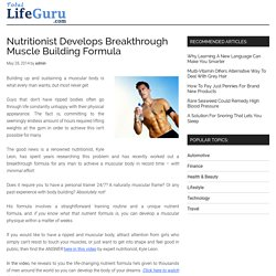Nutritionist Develops Breakthrough Muscle Building Formula