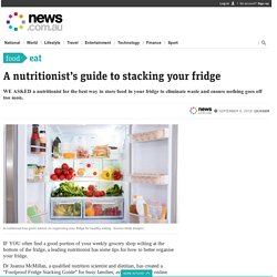 Nutritionist's guide to fridge food stacking