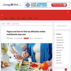 Importance of Effective Online Nutritionist for diet plan