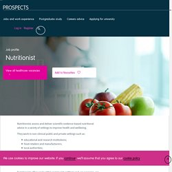 Nutritionist job profile