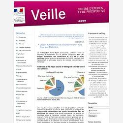 MAAF CEP 04/07/12 Qualité nutritionnelle de la consommation hors foyer aux États-Unis