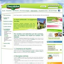 FLEURY MICHON - La charte nutritionnelle : un engagement à vos côtés