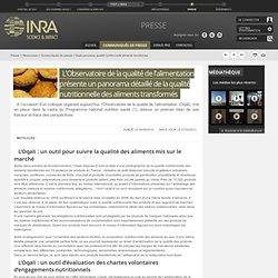 ANSES 04/05/10 L'Observatoire de la qualité de l'alimentation présente un panorama détaillé de la qualité nutritionnelle des ali