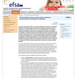 EFSA 25/03/10 L'EFSA établit des valeurs nutritionnelles de référence européennes pour les apports en nutriments