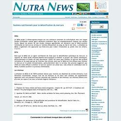Soutiens nutritionnels pour la détoxification du mercure - Détoxification