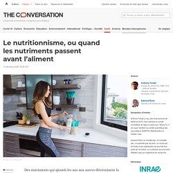 Le nutritionnisme, ouquand lesnutriments passent avant l'aliment