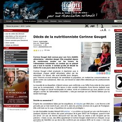 Décès de la nutritionniste Corinne Gouget