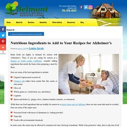 Nutritious Ingredients to Add to Your Recipes for Alzheimer's