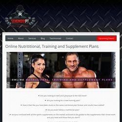 Online Nutrititional, Training and Supplement Plans - Schembri PTSchembri PT