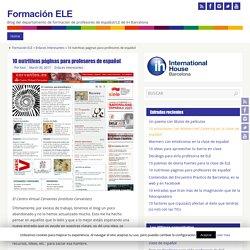 10 nutritivas páginas para profesores de español