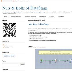Head Stage in DataStage