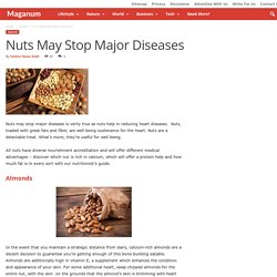 Nuts May Stop Major Diseases - Maganum