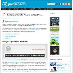 3 nützliche Captcha Plugins für WordPress