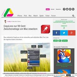 CopyLess: Nützliches Mac-Tool zum kopieren, einfügen und ausschneiden