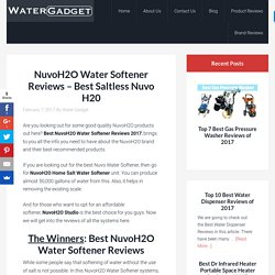 NuvoH2O Water Softener Reviews – Best Saltless Nuvo H20