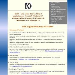 NVDA - Voix Supplémentaires Gratuites