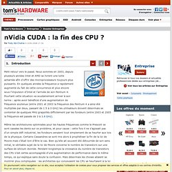 nVidia CUDA : la fin des CPU ?