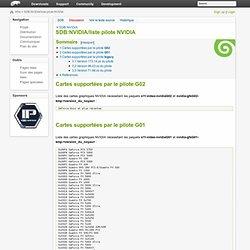 NVIDIA/liste pilote NVIDIA - openSUSE